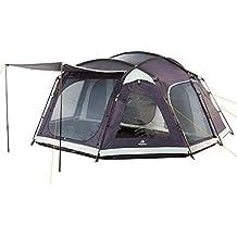 CampFeuer - Großes Familienzelt, 8 Personen Schlafkabine, stahlblau, 5000 mm Wassersäule, Campingzelt, (+ 8 weitere Personen in Vorraum möglich)
