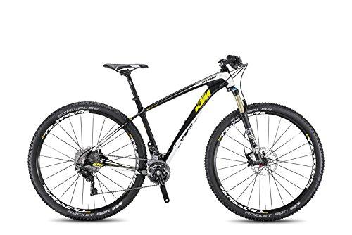 KTM Myroon Elite 29 Mountainbike carbon weiss neongelb 22 Gang 2017 RH 48 cm 10,80 kg