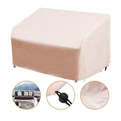 dDanke Beige 3er Deep Lounge Sofa Abdeckung Wasserfest Outdoor Bench Sitzbezug 215* 109* 101 (Lagerung Bench Cover)