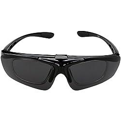 A-szcxtop Colorful winddicht Reiten Polarisierte Sonnenbrille Radfahren Brille Fahrrad Brille Ourdoor Sport Sonnenbrille für Damen und Herren mit Kurzsichtigkeit Rahmen, grau