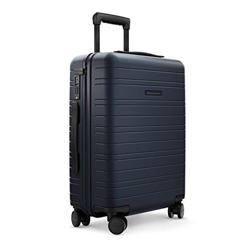 HORIZN STUDIOS H5 Handgepäck | Kabinen Trolley Koffer | Hartschale 55 cm, 35 L, mit 4 Rollen und TSA Schloss, Dunkelblau (Night Blue)