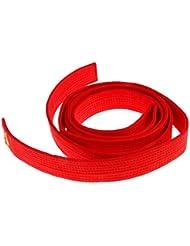 8 Couleurs Ceinture Taekwondo Arts Martiaux en Polyester-Coton Surpiquée Multiples Rangées Couture Super Epaisse Robuste - rouge, 220cm
