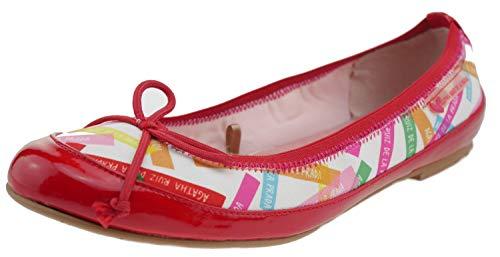 Agatha Ruiz De La Prada 162980 Leder Ballerinas rot, Groesse:35.0