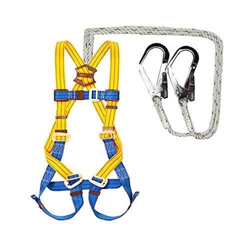 BAI-Fine Imbracatura Completa Imbracatura di Sicurezza Protezione anticaduta Cintura di Sicurezza Set di Arrampicata Resistente all'Usura con Blocco (Colore : B)