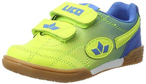 Lico Jungen Bernie V Handballschuhe Gelb (Lemon/Blau)