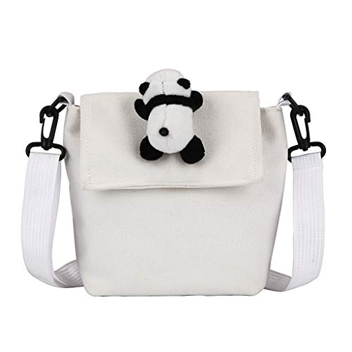 Finebo Umhängetasche Damen Student Leinwand Panda Sun Flower Sport Casual Tote Im Freien Diagonale Verpackung Paket (D) -