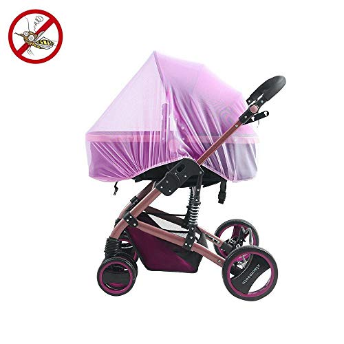 leegoal Universal insektenschutz/Mückennetz für Kinderwagen, Weiches Insektenschild vernetzt mit Elastic Band für Baby-Strollers Infekt Carriers Car Seats Cradles (purple) (Universal Car Seat Carrier)