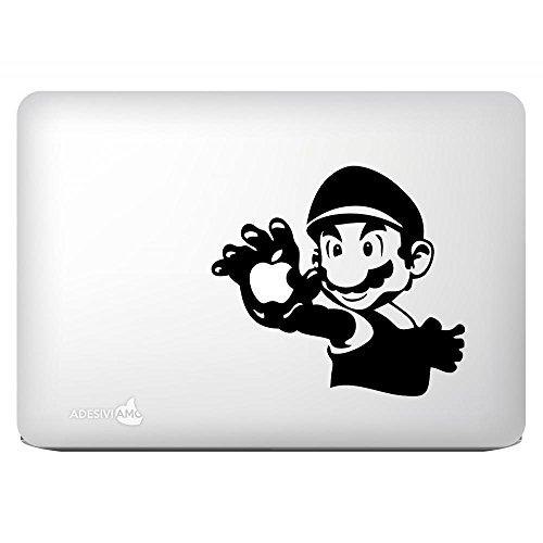Aufkleber Super Mario Hand decal sticker for apple mac macbook tutti i modelli - Hand Geschnitzten Blättern
