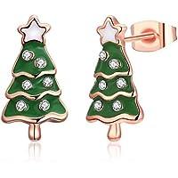"""Árbol de Navidad Pendientes con Ear Stud """"árbol de la vida de acción de gracias Navidad regalo para niña amigo hija"""