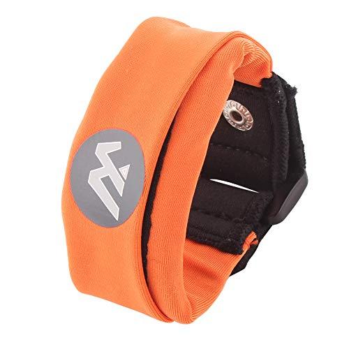 Wwin Multi farbige Handgelenk Brieftasche/Sport-Armband passt für Männer Frauen - EIN identifizierbarer Sport Armband, perfekt für Veranstaltungen Laufen Fitness-Training Wandern Reisen - Orange