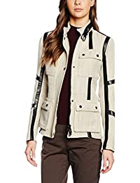 Belstaff Easton, Chaleco para Mujer, Caqui, ES 32 (IT 36)