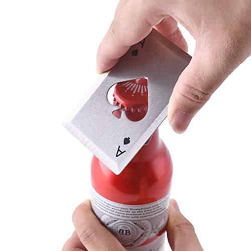 JINRU Edelstahl Flaschenöffner, Solide Und Langlebige Bieröffner, [Satz Von 2] - Coca Cola Schlüsselanhänger Flaschenöffner