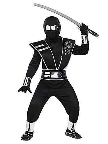 Silver Mirror Ninja Chld Lg 12