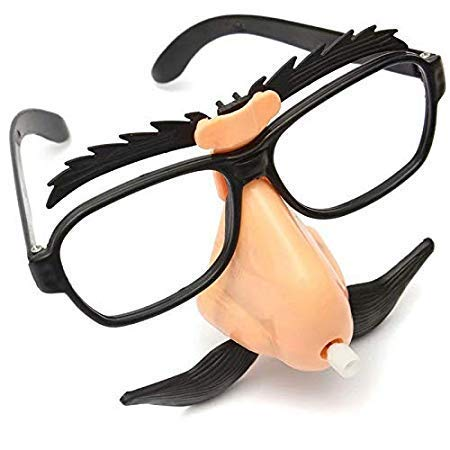 Ungfu Mall Funny Plastic Nase Schnurrbart Clown Brille -