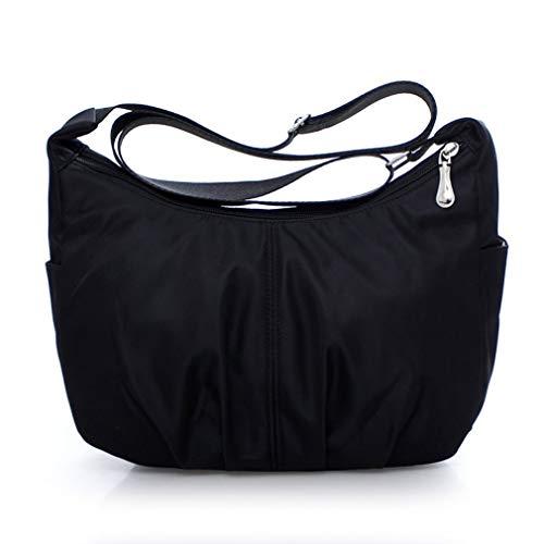 aaeca6325714 DERNON Waterproof Nylon Single Shoulder Bag Fashion Leisure Large Capacity  Women Bag Black