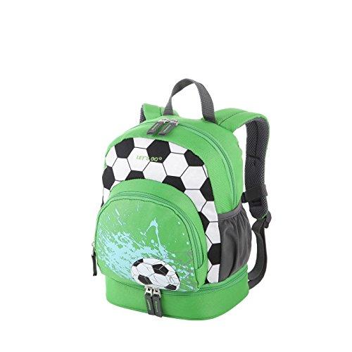 Fußball-mädchen-rucksack (Let's Go Kinderrucksack KRS/2 9 Liter, praktischer Kindergartenrucksack mit Einhorn und Fußball Motiv für Mädchen und Jungen, Kinderrucksack aus strapazierfähigem Polyester)
