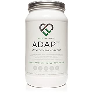 Adapt Advanced Pre-workout / Adaptogenic Herb Drink by LLS | Contains Creatine, Beta-Alanine, BCAA'a, Glutamine, Betaine, Green Tea Extract, Coconut Water, Himalayan Sea Salt, Adaptogenic Herbs plus Much More | For Energy, Focus, Mental Clarity, Hydration, Repair and Recovery | Love Life Supplements - 'Live Healthy, Love Life.'