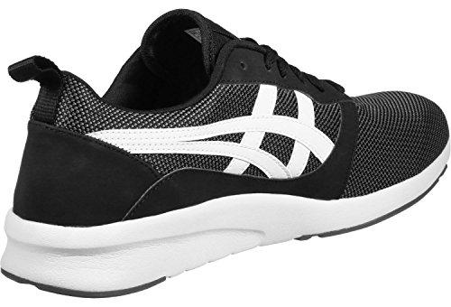 Asics H7g1n 0101, Unisex Fitness Shoes - Blanco Negro Adulto