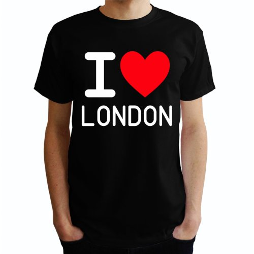 I love London Herren T-Shirt Schwarz