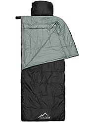 Profi-Schlafsack Traveller mit Kissen 500 g/m² in Schwarz