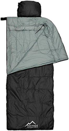 Profi-Schlafsack Traveller mit Kissen 500 g/m² in Schwarz Größe 1 Stück Alpen Bergsteigen Zelt 2