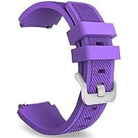 Conquro Gel de Silicona Correa del silicón de la Tela Cruzada reemplazable Suave Pulsera para Huami AMAZFIT 2 2S (Púrpura)