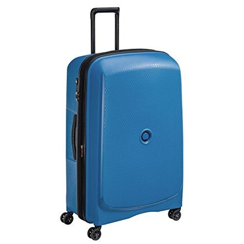 DELSEY Paris Belmont Plus Maleta, 82 cm, 123 Liters, Azul (Bleu Cyan)