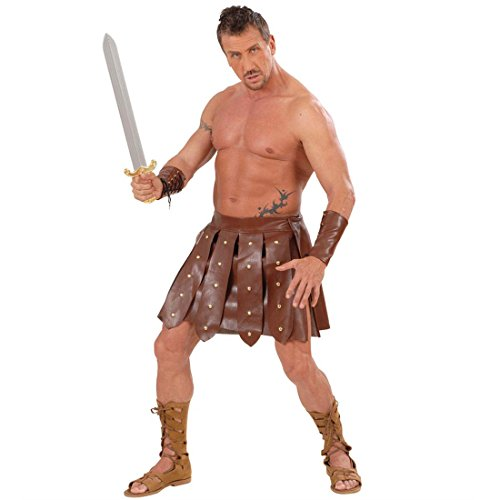 Gladiator Kostüm Rock und Armbänder Kunstleder Lederrock und Armschnallen Antike Römerkostüm Römischer Krieger Faschingskostüm Gladiatoren - Antike Kostüm Armbänder