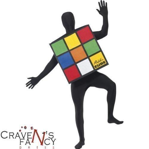 Erwachsene Rubik Würfel - Kostüm ()