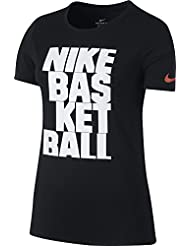Nike W Nk Dry Tee Df Lockup Camiseta de Manga Corta, Mujer, Negro (Black), XS