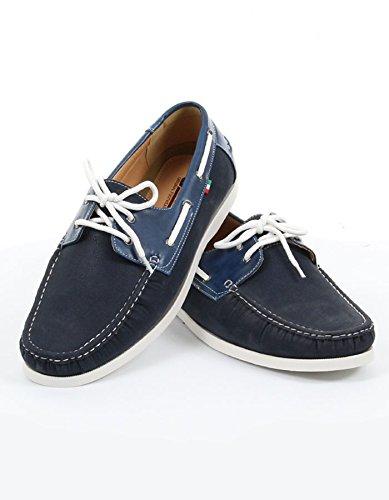 Duke - Chaussures bateau marine - Duke grande taille homme - Bleu Bleu