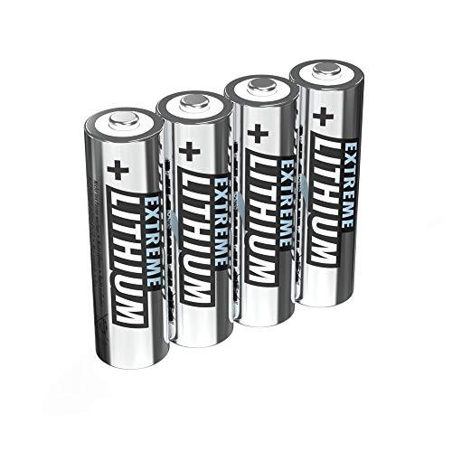 ANSMANN Extreme Lithium Batterie AA Mignon 4er Pack - 1,5V, LR6 - hohe Kapazität, extrem leich, 700% mehr Power -
