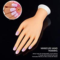 Pro práctica Nail Art Mano Suave Entrenamiento Modelo de exhibición Manos Flexible de silicona Prótesis Personal Salón de manicura Herramientas Belleza