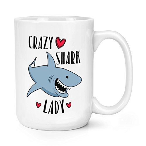 Crazy Shark (Crazy Shark Lady 15oZ Mighty Becher)