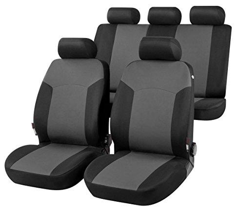 RMG R01V223 coprisedili compatibili per 207 fodere auto R01 neri grigi per sedili con airbag braciolo e sedili sdoppiabili