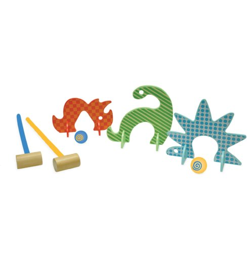 Manhattan Toy Jeu de Plein Air - Dino Club Set de Croquet