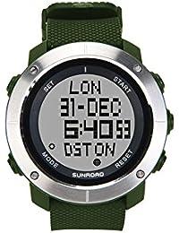 2017 SUNROAD nueva llegada de los hombres del deporte del reloj Digital horas para Running Natación Resistente al agua 50 m cronómetro temporizador FR1001A color Verde