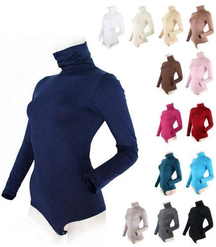 Preisvergleich Produktbild Damen Body langarm, Rollkragen schwarz Gr M