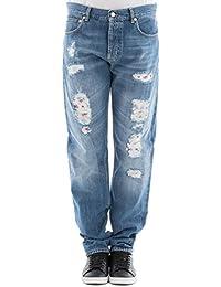 Alexander Mcqueen Homme 505409QKY394001 Bleu Claire Coton Jeans