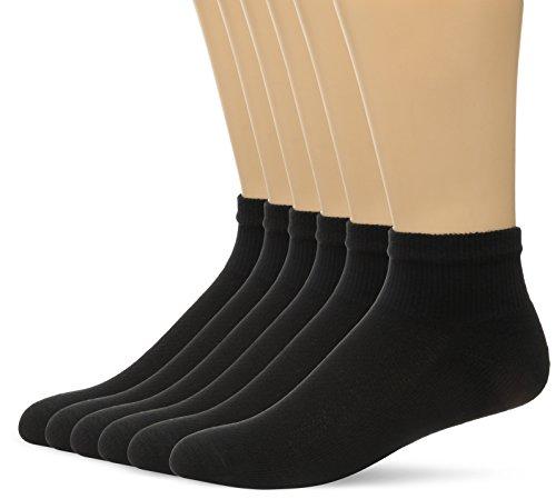 Preisvergleich Produktbild Hanes Men's FreshIQ X-Temp Comfort Cool Vent Ankle Socks,  Black,  6-12 (Pack of