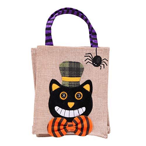 LCLrute Halloween süßigkeiten Tasche Halloween Nette Hexen Süßigkeitstasche Verpackung Kinder Party Aufbewahrungstasche Geschenk - Nette Süßigkeit Kostüm
