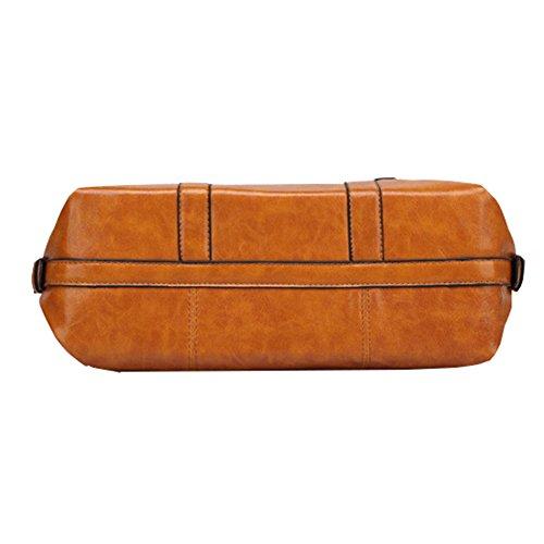 Myymee Donne borsa a tracolla Top sacchetti della maniglia Grande Borse a mano Marrone chiaro