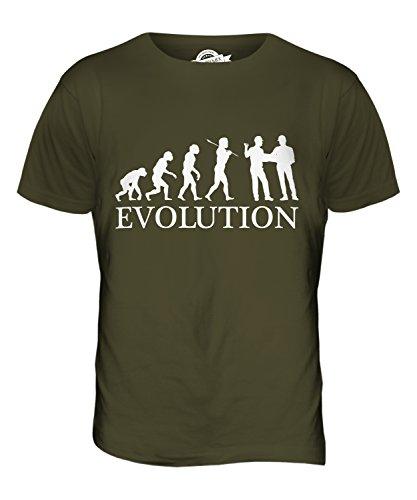 CandyMix Baumanagement Bauplaner Evolution Des Menschen Herren T Shirt Khaki Grün