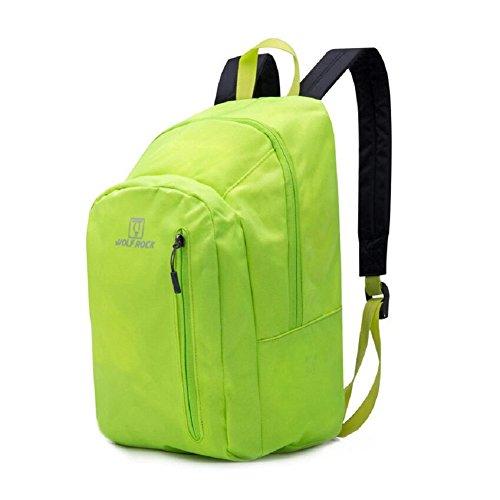 ZC&J Borsa portatile ultra-leggera portatile, alpinismo, campeggio, zaino in bicicletta, zaino impermeabile, resistente all'usura, maschile e femminile,purple,15L Yellow