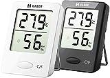 Habor Thermomètre Hygromètre numérique Intérieur, Thermomètre D'ambiance, Jauge d'humidité pour température Précise pour La Maison, Le Bureau, la Serre, Les Chambres à Coucher...