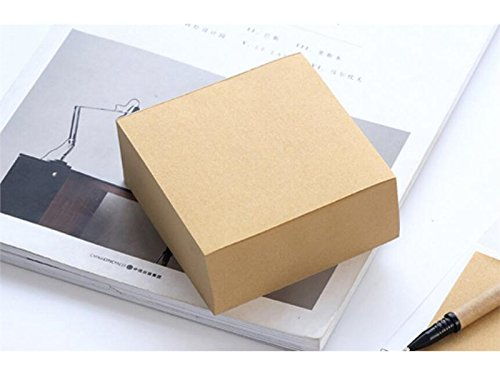 Fushenr Label lesen Kraft-Abdeckungs-quadratischer klebriger Hinweis für Klassifikationspapier-Ziegel-Mitteilungs-Anmerkung (Hellbraun) Schüler-Lesezeichen -