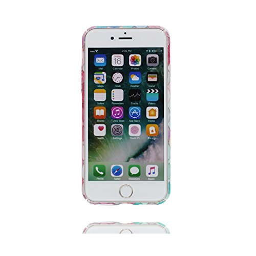Custodia iPhone 7, iPhone 7 copertura 4.7, TPU Cover Gel morbido di nuovo disegno di durevole flessibile Shell Case, Graffi Resistenza agli urti / Cartoon stelle Terra color 4