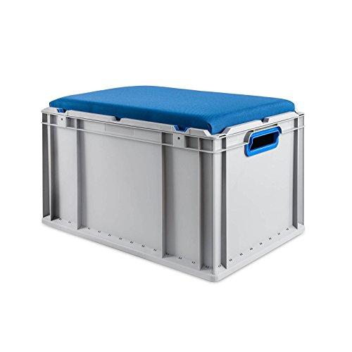 Eurobox Seat Box, Griffe offen, 600x400x320mm, 1 St, blau
