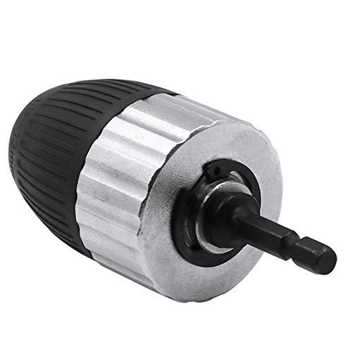 """1,5-13 mm Elektrohammer Schnellspannbohrfutter Schnellspannbohrfutter 3/8\""""-24UNF Mit 1/4\"""" Sechskant Adapter Conversion Chuck-Silber und Schwarz"""