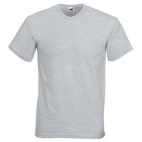 Fruit of the LoomHerren T-Shirt Grau - Heather Grey